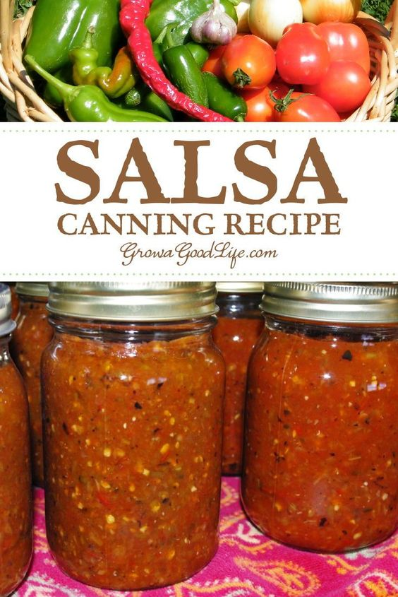 Tomato Salsa Canning