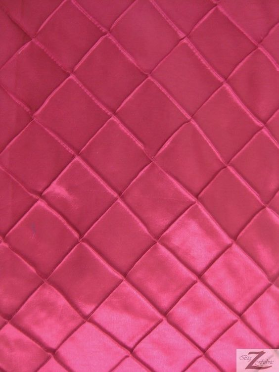 "CHECKERED TAFFETA FABRIC - Fuchsia - 60"" WIDTH SOLD BTY PINTUCK #BIGZFABRIC"