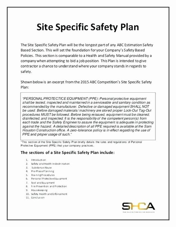 Construction Safety Plan Template Beautiful Contractor Safety Plan Template Tor Safety Plan Templat In 2020 Construction Safety Business Plan Template Free How To Plan