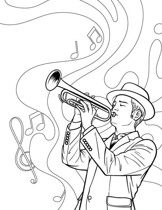 Omeletozeu Jazz Art Music Coloring Coloring Pages
