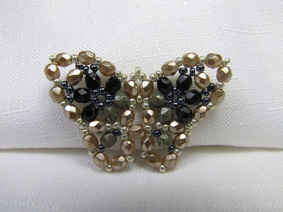 Black and gold butterfly by Bean's Beads, $63.00