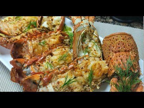 الاستاكوزا بزبدة الليمون والثوم Lobster Recipe With Garlic Lemon Butter Youtube Garlic Recipes Lobster Recipes Recipes