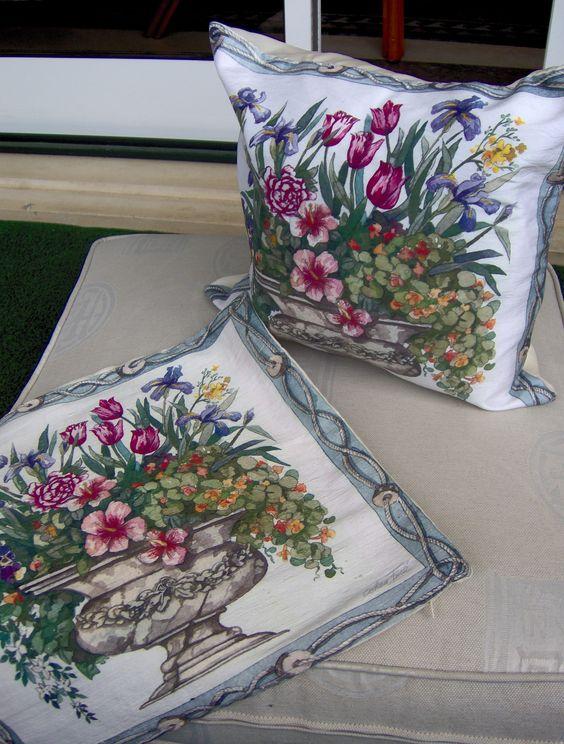 Silk cushion designed by me