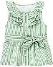 yet ANOTHER option for transforming a men's shirt into a girl's dress - ruffles at the collar and sleeveless.