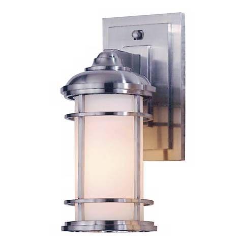 Feiss Lighthouse 11 High Steel Outdoor Wall Light 97913 Lamps Plus Led Outdoor Wall Lights Outdoor Wall Lantern Wall Lights