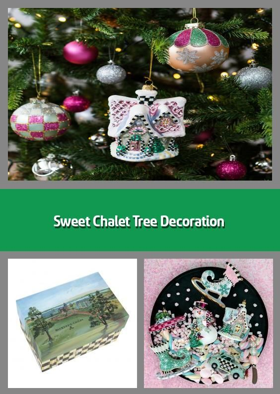 Sweet Chalet Tree Decoration Christmas Tree Ornament Material Glass Dimensions H16 5x11 In 2020 Tree Decorations Christmas Tree Decorations Christmas Decorations