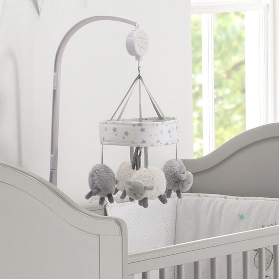 Silver Cloud Cot Mobile (Counting Sheep)