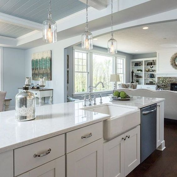 White Kitchen Cabinets And Countertops: How To Choose The Right White Quartz For Kitchen