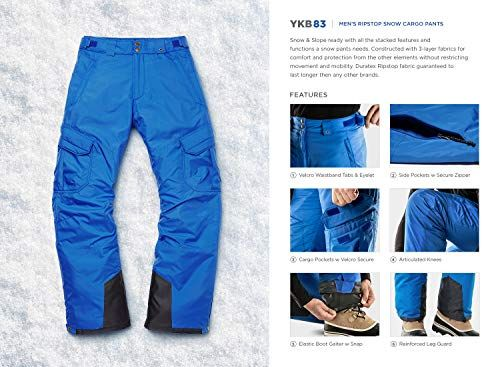 Waterproof Insulated Ski Pants Ripstop Windproof Snowboard Bottoms TSLA Mens Winter Snow Pants