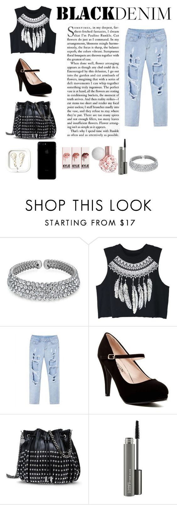 """""""black"""" by ikostadinova ❤ liked on Polyvore featuring Bling Jewelry, WithChic, STELLA McCARTNEY and MAC Cosmetics"""
