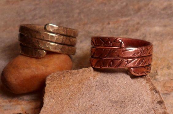 Handcrafted Copper Triple Wrap Ring by BirdieRoadCreations on Etsy, $19.75