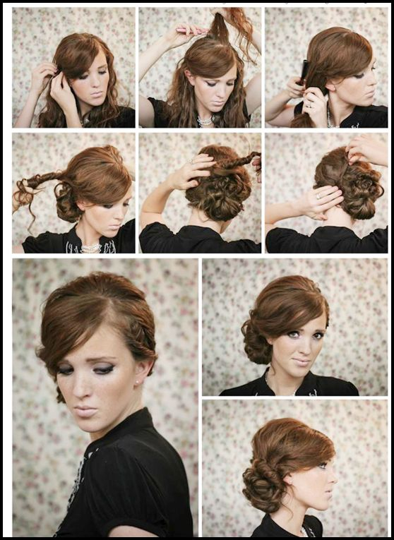 twisted side bun updo hairstyles tutorial side buns. Black Bedroom Furniture Sets. Home Design Ideas