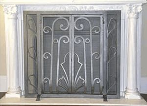 Art Deco Fireplace Screen 1291 In Silver Finish Up To 30 For The Kitchen Pinterest