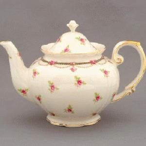 small rose teapot:
