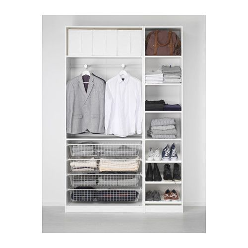 office 2 pax wardrobe soft closing hinge 150x38x236 cm ikea for the home pinterest. Black Bedroom Furniture Sets. Home Design Ideas