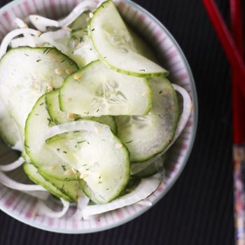 Asian Cucumber Marinated Salad