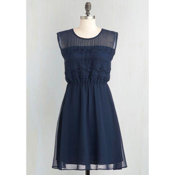 Vintage Inspired Mid-length Sleeveless A-line Vogue Wave Dress ($60) ❤ liked on Polyvore featuring dresses, sleeveless chiffon dress, transparent dress, vintage style dresses, chiffon tiered dress and sheer dress