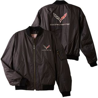 C7 Corvette Lightweight Black Aviator Jacket