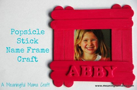 Popsicle Stick Name Frame Craft