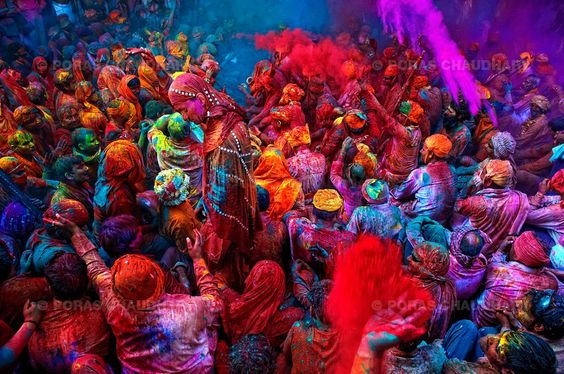 The festival of Holi is celebrated on the day after the full moon in early March every year. It is also called the Festival of Colours. On this day people Throw colors at each other. This festival occurs at the onset of spring. It is India's most celebrated festival along with Diwali.