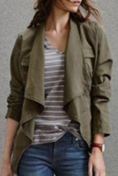 draped utility jacket