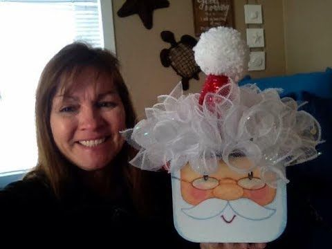 Make A Santa Hat For The Santa Gift Box From Dollar Tree Youtube Dollar Store Christmas Christmas Crafts Decorations Dollar Tree Crafts