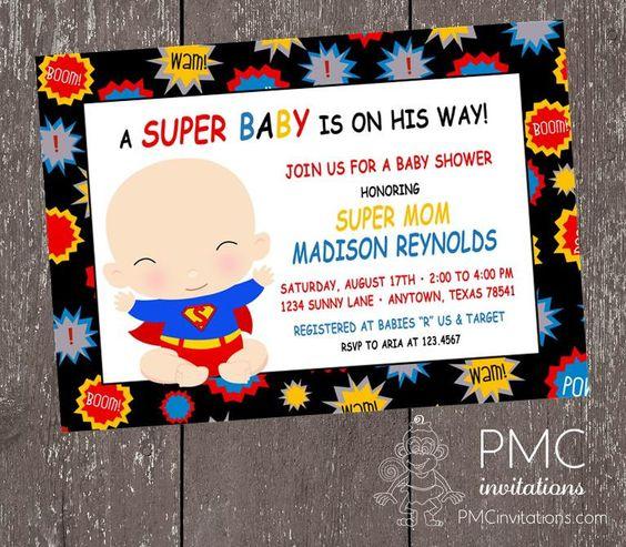 super hero baby baby shower invitations and superhero baby shower
