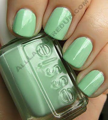 Mint Candy Apple: Makeup Nails, Seafoam Green, Nail Polish, Mint Green Nails, Essie Than, Color Nails, Mint Candy Apples, Green Polish