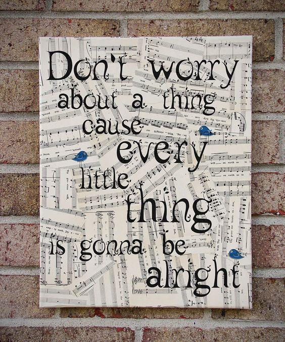 Dont Worry Lyrics Song Download: Bob Marley 'Three Little Birds' Lyric / Sheet Music Wood
