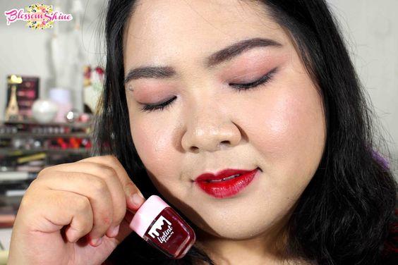 Full Lips application of La Tulipe Liptint - Red Velvet