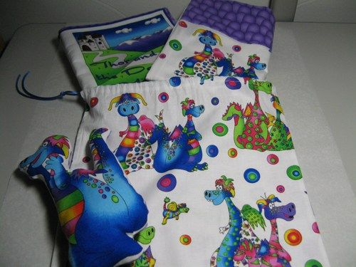 Days of Yore Dragon Story Gift Set Has Book, Pillowcase, Toy in Case