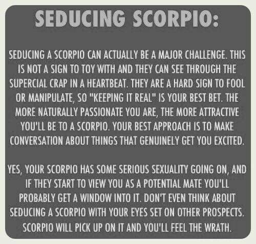 Seducing a scorpio male