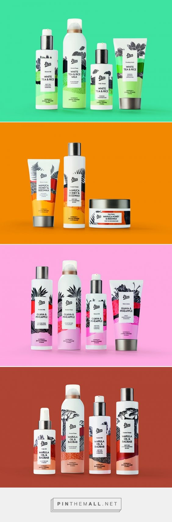 Etos Personal Care Incorporates Graphics in a Visually Appealing Way — The Dieline | Packaging & Branding Design & Innovation News - created via https://pinthemall.net