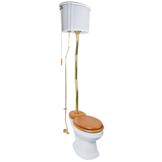 High Tank Pull Chain Toilet Pinterest  The World's Catalog Of Ideas