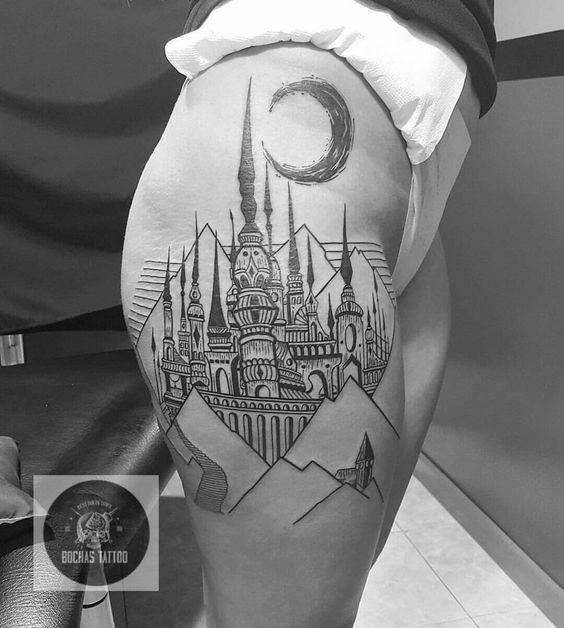 Castillo tattoo Colombia Bogotá ink @bochastattoo