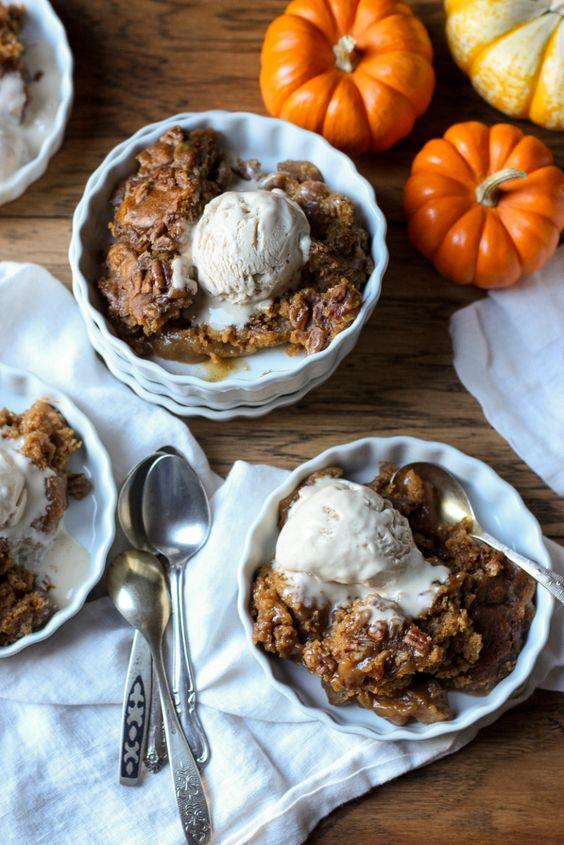 Pumpkin Pecan Cobbler Cake (gluten free, paleo, dairy free, soy free, vegan) – From Jessica's Kitchen: