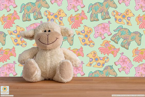"""""""Animal Crackers"""" surface pattern design from UnBlink Studio by Jackie Tahara"""