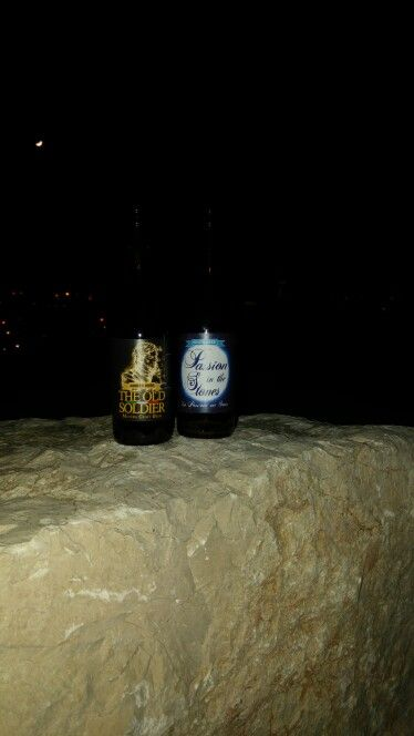 The old soldier ( amber ale); Passion in the stones ( white beer)...brewed in Accettura, Matera.