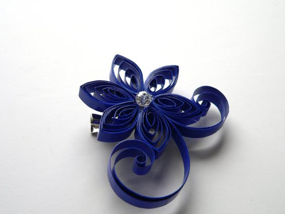 Cobalt Blue Brooch Hair Clip Mother of the by MiaettiaCreations, $18.00