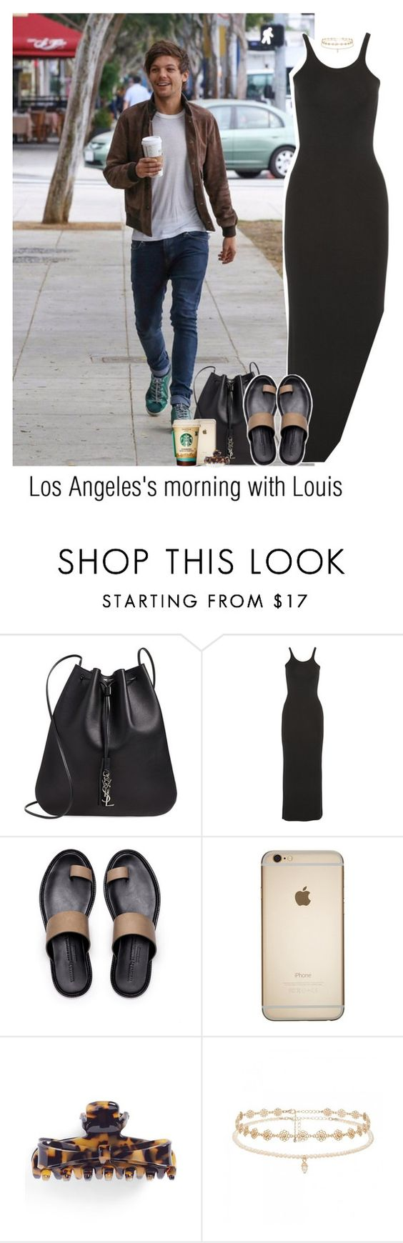"""""""Los Angeles's morning with Louis"""" by reasongirl ❤ liked on Polyvore featuring Yves Saint Laurent, T By Alexander Wang, L. Erickson and Forever New"""