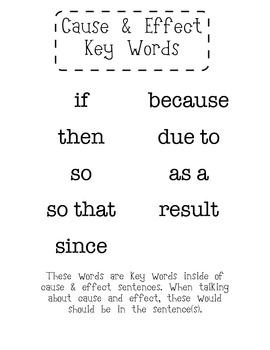 keywords for cause and effect essay