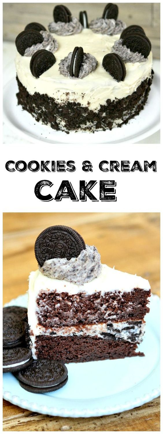 Cookies and Cream Cake recipe: an easy and impressive layer cake recipe that is perfect for special occasions