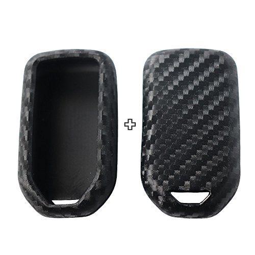 Carbon Fiber Car Key Case Accessories For Honda Accord CR-V Fit HR-V Jazz Civic