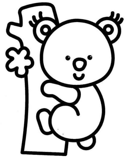 Tareitas Koala Para Colorear Dibujos De Animales Sencillos Figuras Para Colorear Animalitos Para Colorear
