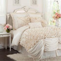 Queen Lucia Ivory 4 Piece Comforter Set