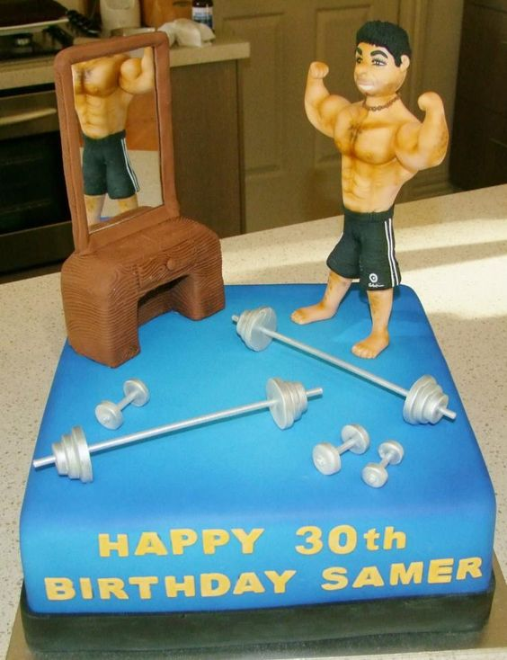 Muscle man, Man cake and Muscle on Pinterest