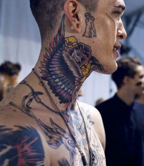 125 Best Neck Tattoos For Men Cool Ideas Designs 2020 Guide Neck Tattoo For Guys Tattoos For Guys Full Neck Tattoos