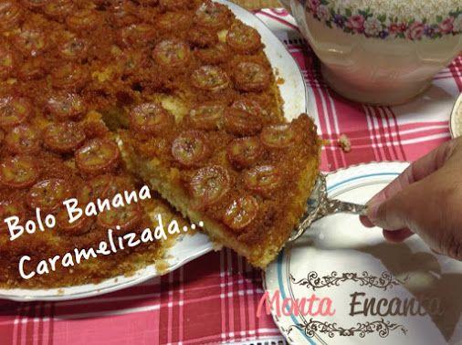 Bolo de Banana Caramelizado Link da receita -->…