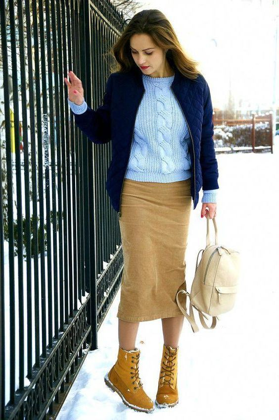 How Women Should Wear Timberland Boots 2020 | Skirts with