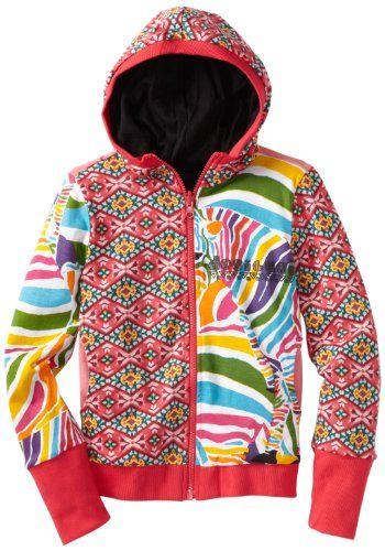 Desigual Girls 7-16 Zebra Print Reversible Hoodie - Listing price: $79.00 Now: $59.25 + Free Shipping